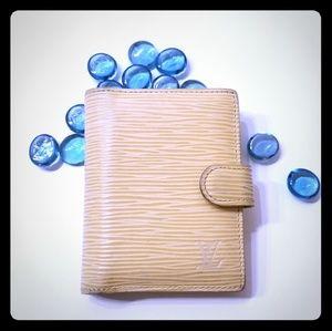 Louis Vuitton yellow flap card holder wallet